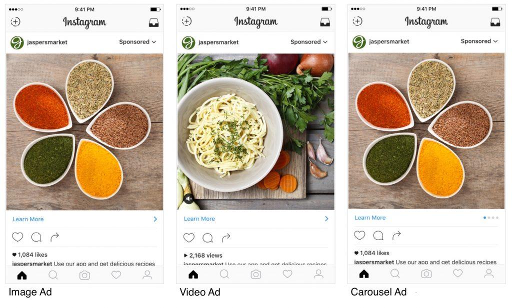 كيف تبدو إعلانات Instagram